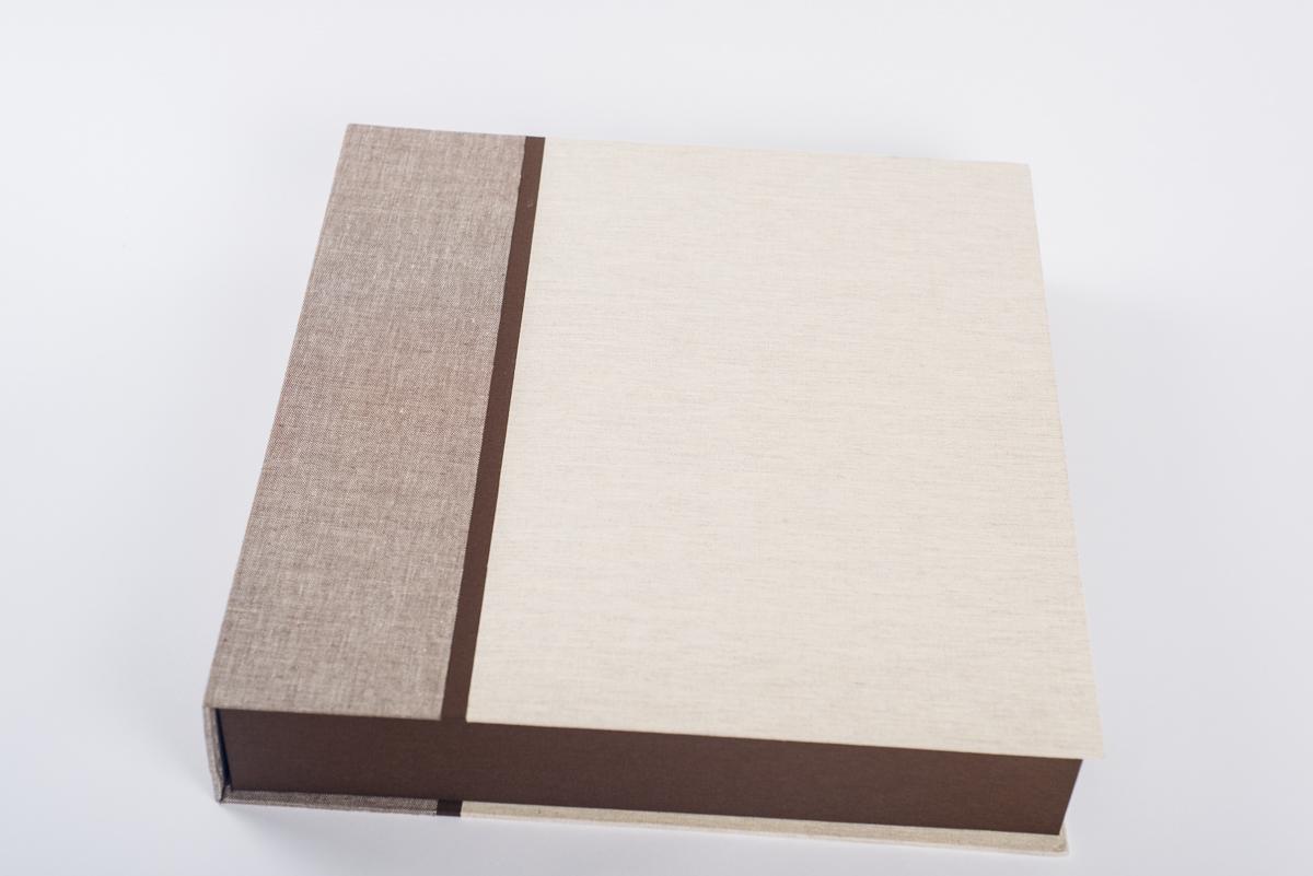 Caja album fotos artesanal